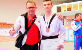 Serghei Uscov a cîștigat bronzul la Europenele de taekwondo