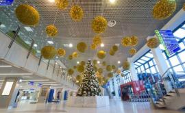 Кишиневский аэропорт украсили по-новогоднему (ФОТО)