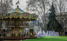 Cum arată caruselul de la Tîrgul de Crăciun de pe strada 31 august (FOTO)