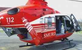 Un elicopter SMURD Iaşi a transportat un pacient de la Vulcăneşti la Chişinău