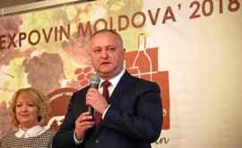Dodon a spus cît vin a exportat Moldova în UE și în CSI