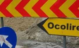 Traficul rutier pe o stradă din capitală este suspendat