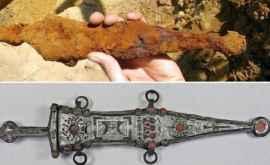 Arheologii au restaurat un pumnal vechi de 2000 de ani al unui legionar roman