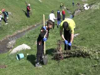 В Цыпова было посажено около 2000 саженцев (ВИДЕО, ФОТО)