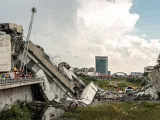 Опубликовано еще одно видео обрушения моста в Генуе