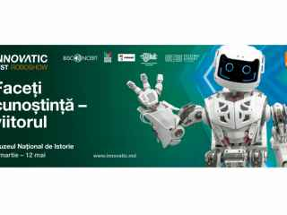 Vedeta INNOVATIC FEST - robotul Thespian a aterizat la Chișinău unde a recitat poezii și a răspuns la întrebările jurnaliștilor