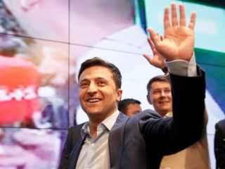 Reacția lui Zelenski, după victoria uriașă în fața lui Poroșenko (VIDEO)