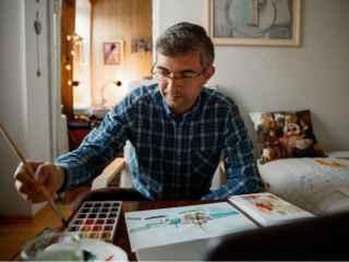 """Radu Darciuc, un cardiolog cu inimă de pictor: """"Și medicina este o artă"""""""