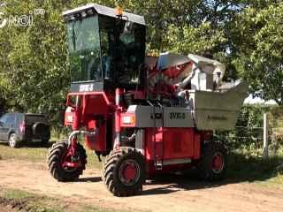 Agromașina a finalizat testarea Combinei de recoltare a strugurilor (VIDEO)