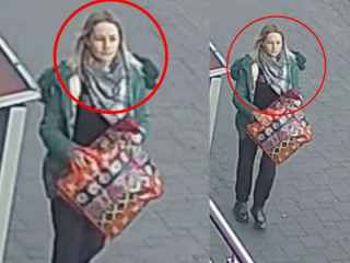 Imagini noi cu femeia care și-a lăsat copilul în scara unui bloc. Poliția cere ajutor (VIDEO)
