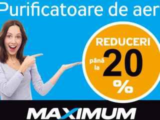 Grijă maximă pentru aerul curat în casă ta - reduceri de la rețeaua Maximum