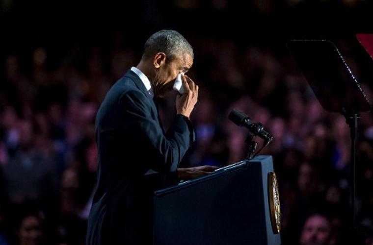 Обама не сдержал слез, произнося прощальную речь (ВИДЕО)