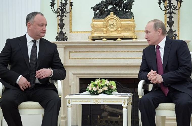 Cadoul original oferit de Dodon lui Putin