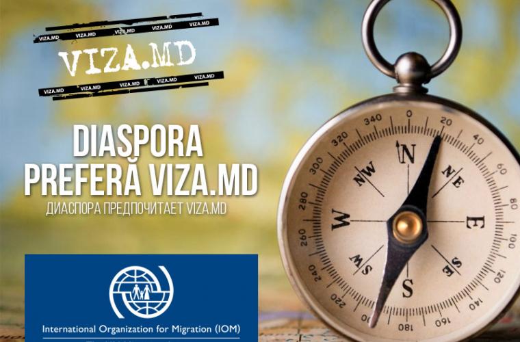 STUDIU OIM: Diaspora preferă VIZA.md (FOTO)