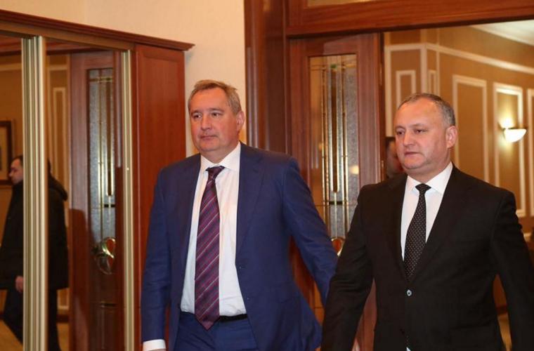 Dodon a discutat cu Rogozin scandalul diplomatic (VIDEO)