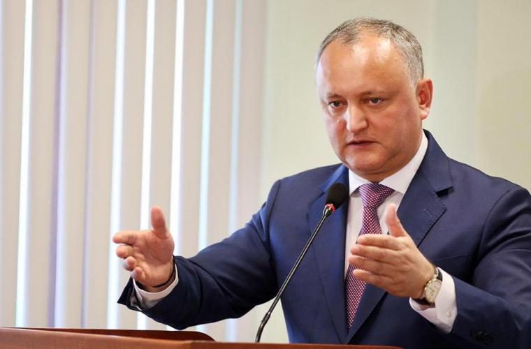 Dodon: Guvernul a creat premise pentru furtul miliardului în 2014