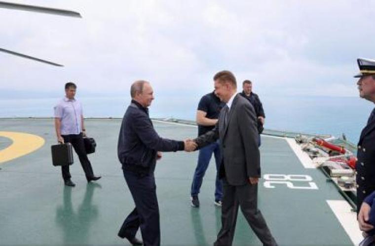 Vladimir Putin a inaugurat lucrările de construcție a gazoductului TurkStream