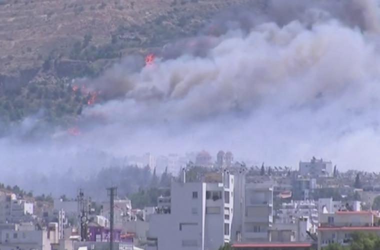 Incendii de amploare în centrul Greciei