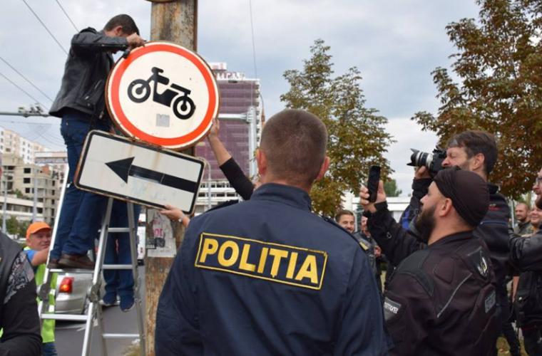 Bikerii au liber la circulaţie pe bd Ştefan Cel Mare