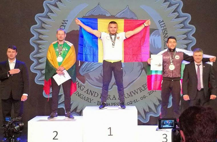 Daniel Procopciuc a cucerit titlul mondial la armwrestling
