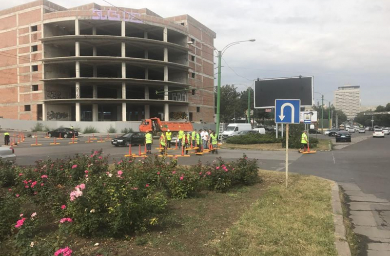 O altă intersecție din Chișinău va fi amenajată (FOTO)