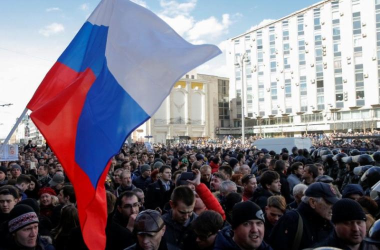 Proteste în Rusia de ziua președintelui Putin