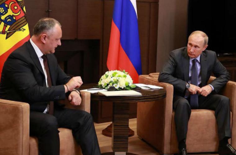 Dodon a avut o întrevedere cu Putin