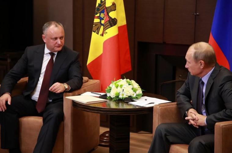 Dodon l-a rugat pe Putin să extindă lista exportatorilor moldoveni în FR