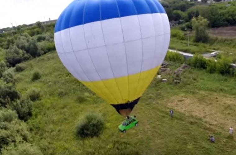 În Rusia un bărbat a fost amendat pentru zborul cu un balon (VIDEO)