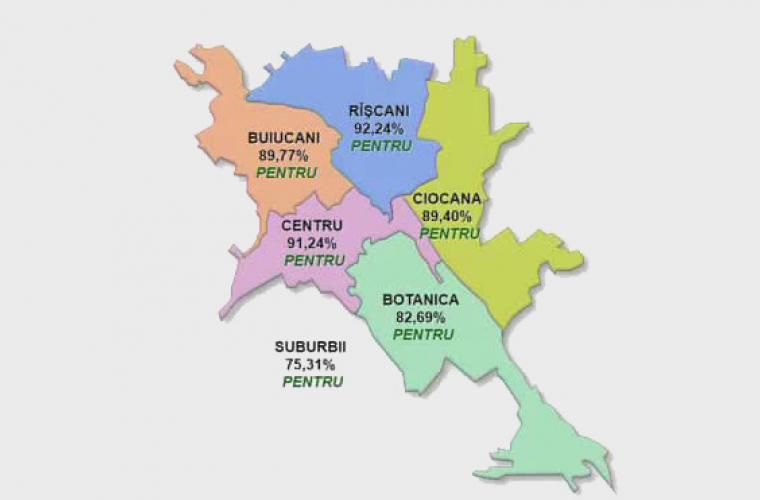 TOPUL sectoarelor care au votat PENTRU și CONTRA revocării lui Dorin Chirtoacă