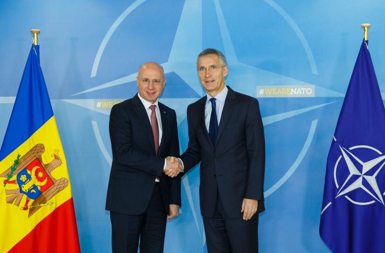 Stoltenberg, la întrevederea cu Filip: NATO respectă neutralitatea Moldovei