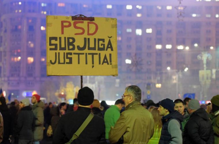 Manifestații antiguvernamentale în masă au avut loc în România