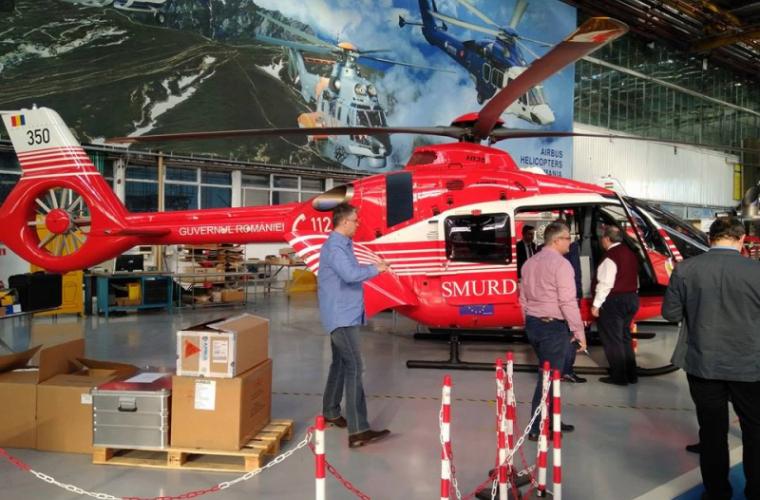 Un nou elicopter SMURD va efectua operațiuni de salvare pentru RM (FOTO)