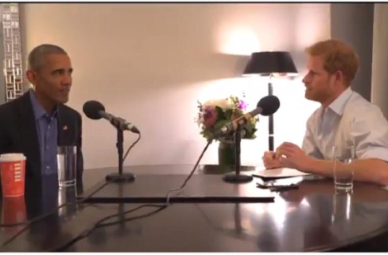 Prinţul Harry l-a intervievat pe Barack Obama (VIDEO)