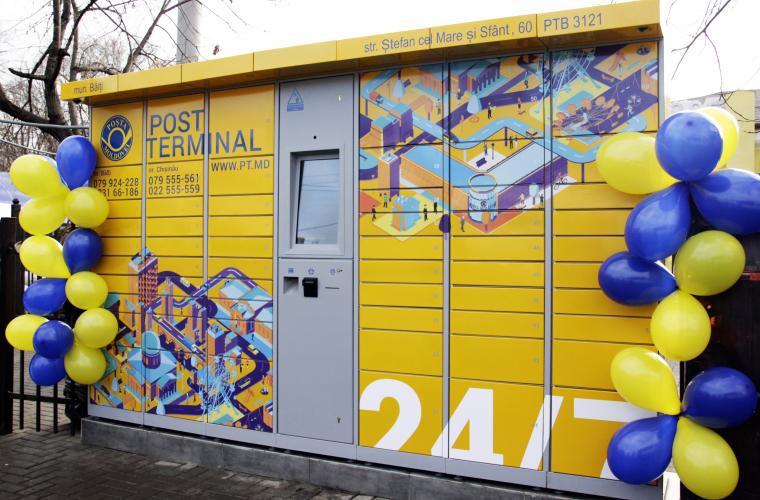 Poșta Moldovei a lansat primul Post Terminal în or. Bălți (FOTO)