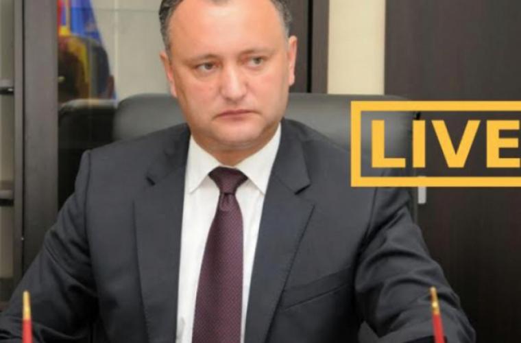 Discursul președintelui Igor Dodon LIVE pe TV NOI