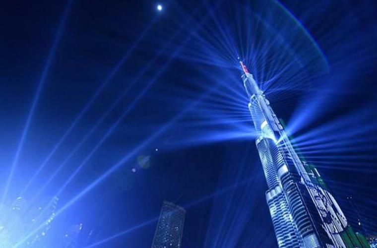Dubai: Spectacolul laser de Anul Nou intră în Cartea Recordurilor (VIDEO)