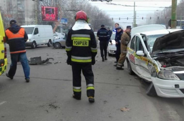 Accident GRAV în sectorul Botanica al Capitalei (FOTO)