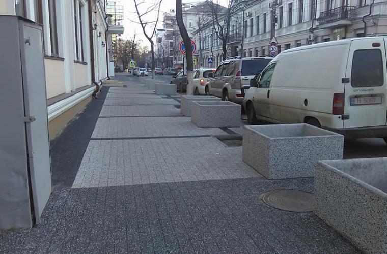 """În Chișinău a apărut """"trotuarul de vis"""" (FOTO)"""