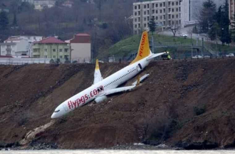 Turcia: Avion de pasageri, la un pas de a se prăbuși în mare (VIDEO)