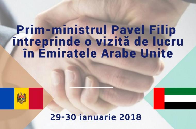 Premierul Moldovei efectuează o vizită de lucru în EAU
