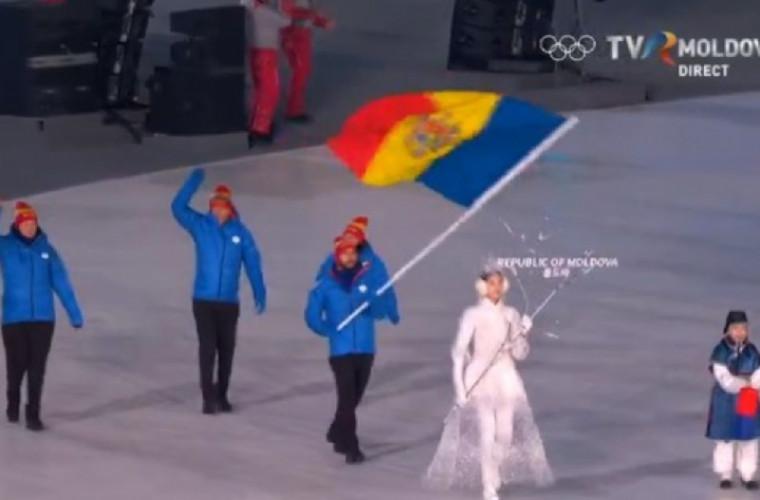 Delegația Moldovei la Jocurile Olimpice a defilat pe stadionul din PyeongChang
