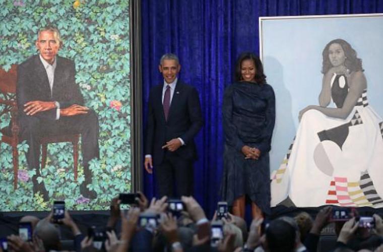 Portretele lui Barack și Michelle Obama au stîrnit controverse (FOTO)
