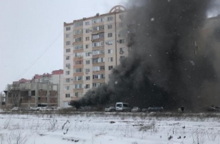 Un incendiu a izbucnit în sectorul Ciocana al Capitalei (VIDEO)