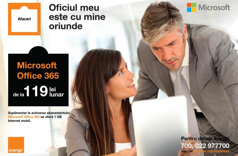 Oficiul tău virtual. Soluții de productivitate Microsoft în Abonamentele Orange