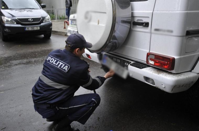 Decis: polițiștii nu vor mai putea scoate plăcuțele de înmatriculare