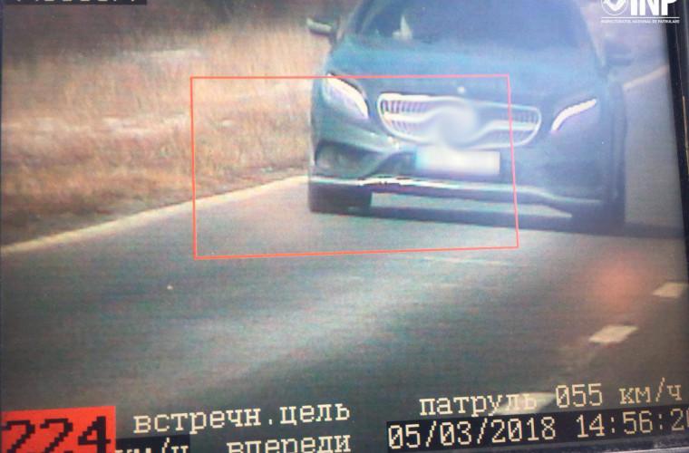 Vitezoman surprins de radarele poliției
