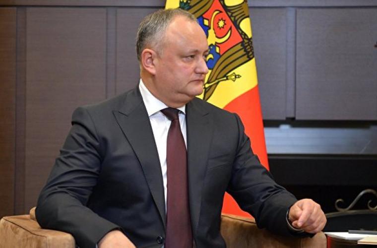 Dodon a vorbit despre pericolul rezoluției Adunării Generale a ONU privind Transnistria