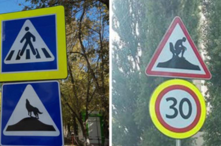 Indicatoare rutiere stranii pe străzile Chişinăului. Care este explicația Primăriei
