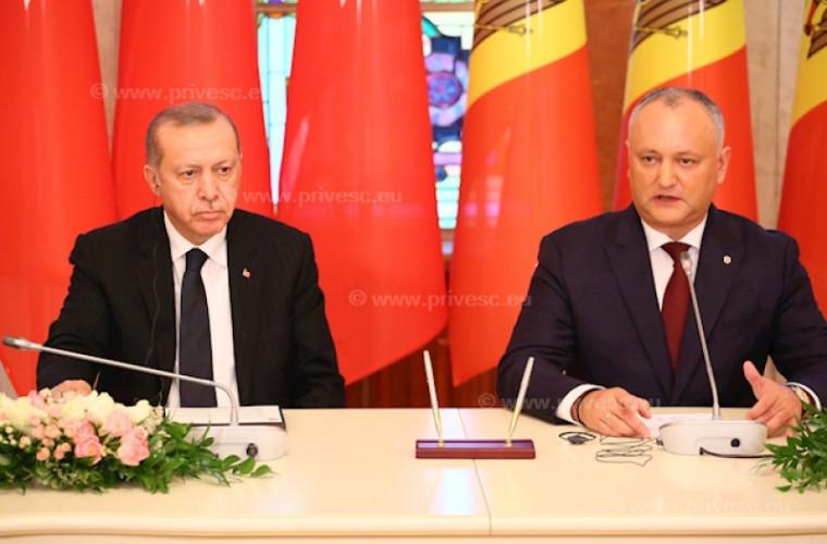 Primele declarații ale lui Erdogan la Chișinău: